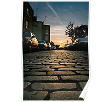 Sunset Cobbles Poster