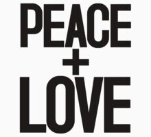 PEACE + LOVE by TheLoveShop