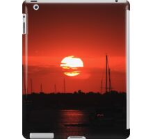 beautiful sunrise over the harbor iPad Case/Skin