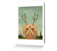 Cat Deity Greeting Card