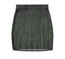 Green numbers Mini Skirt
