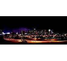 Denver Skyline with Lightning Photographic Print