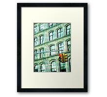 A Freezing Rush  Framed Print