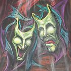 Drama Masks soft pastel by gotmeamuse