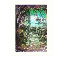 In a Spiritual Place / homage to Gandhi  Art Print