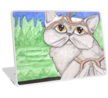 Jemma, Fantasy angel cat art Laptop Skin