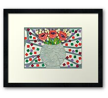 PERPETUAL RED POPPY TORMENT Framed Print