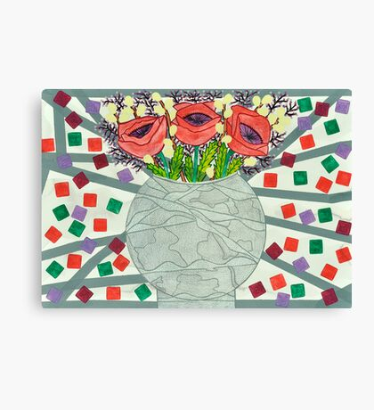 PERPETUAL RED POPPY TORMENT Canvas Print
