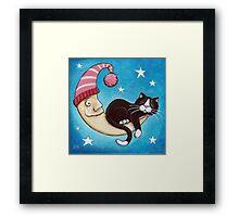 The Safest Place for a Cat Nap Framed Print