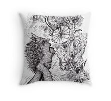 Dog hot night Throw Pillow