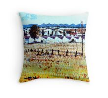 The Factory (Homage to Vincent) Throw Pillow