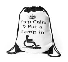 Keep Calm & Put a Ramp in Drawstring Bag