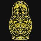 Matryoshka (yellow) by BT-PopTee
