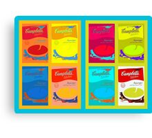 8 boxes of campbell's soup Canvas Print
