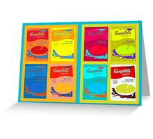 8 boxes of campbell's soup Greeting Card
