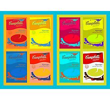 8 boxes of campbell's soup Photographic Print