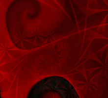 Red Floral Gnarl T Sticker