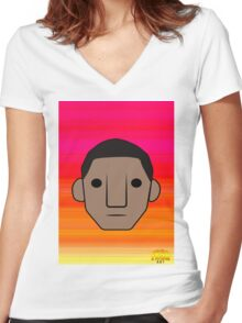 Pharrell  Women's Fitted V-Neck T-Shirt