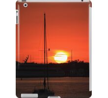 sunrise over Mantanaz Pass Harbor iPad Case/Skin