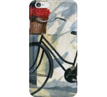 Bicycle with Red Flowers iPhone Case/Skin