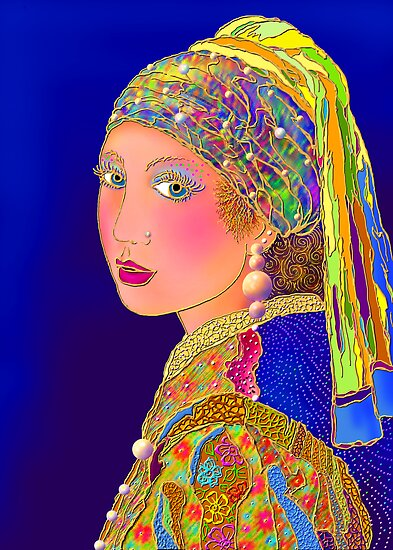 'Pearls Are A Girls Best Friend' or Mr. Vermeer's Done Gone Hollywood by luvapples downunder/ Norval Arbogast