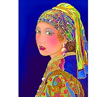 'Pearls Are A Girls Best Friend' or Mr. Vermeer's Done Gone Hollywood Photographic Print