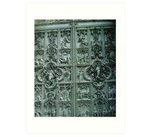 Duomo di Milano, a Door. Lombardia, Italy, Bas-relief. 2008 Art Print