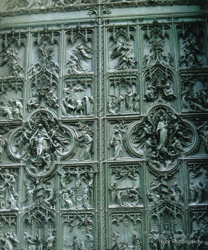 Duomo di Milano, a Door. Lombardia, Italy, Bas-relief. 2008 by Igor Pozdnyakov