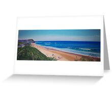 View to Bar Beach, Newcastle, NSW, Australia Greeting Card