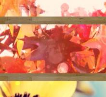 romantic impressionism art watercolor leaves sunflower Sticker