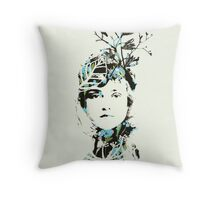20's Beauty Greeting Card Throw Pillow