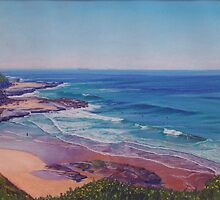 Susan Gilmore Beach, Newcastle, NSW, Australia by Carole Elliott