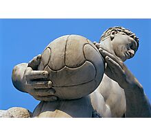 Football Player Statue, Foro Italico, Italy  Photographic Print