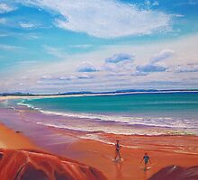 Blacksmith's Beach, Lake Macquarie, NSW, Australia by Carole Elliott