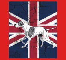 grunge UK fashion Union Jack Flag English pointer Baby Tee