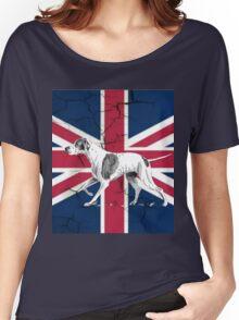 grunge UK fashion Union Jack Flag English pointer Women's Relaxed Fit T-Shirt