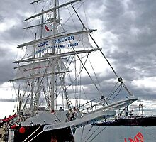 Lord Nelson Sailing Ship (Happy Birthday) by Bev Pascoe