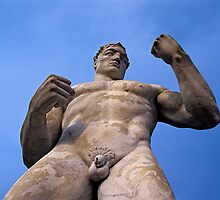 Statue at Foro Italico (Stadio dei Marmi) in Rome by Petr Svarc