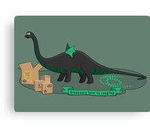 Dinosaurs love to cosplay Canvas Print