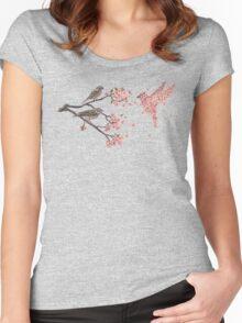 Blossom Bird  Women's Fitted Scoop T-Shirt