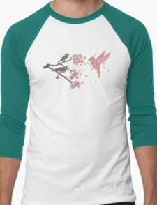 Blossom Bird  Men's Baseball ¾ T-Shirt