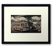 (catching) The Bus #0301 Framed Print