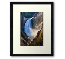 Lower Falls, Grand Canyon of Yellowstone. Yellowstone National Park. Wyoming. USA. Framed Print
