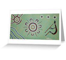 Ceremony by Australian Aboriginal Artist David Williams Greeting Card