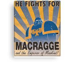 Ultramarines Propaganda Canvas Print