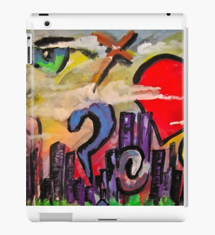 sky graffiti iPad Case/Skin