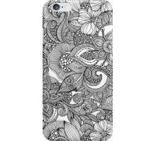 Doodles Black and White iPhone Case/Skin