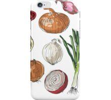 illustration of retro organic Onions set iPhone Case/Skin