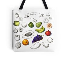 Set of Doodle Fruits - for scrapbook or design - hand drawn Tote Bag