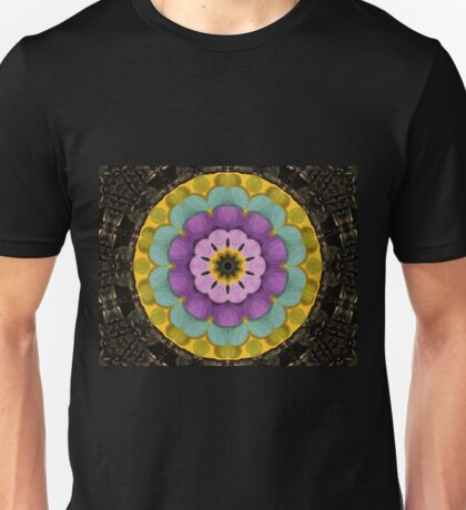 Crystall with a flower of acryl Unisex T-Shirt